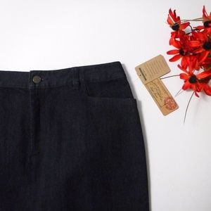 NWT Ralph Lauren Tribeca Jean Pencil Skirt 8